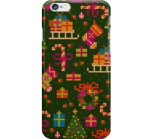 christmas x-stitch pattern for the holiday mood iPhone Case/Skin