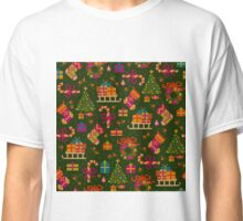 christmas x-stitch pattern for the holiday mood Classic T-Shirt