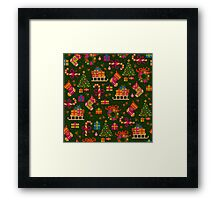 christmas x-stitch pattern for the holiday mood Framed Print