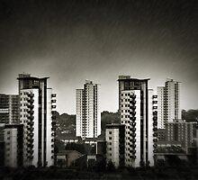 Rain over Docklands by Nicola Smith