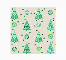 New Year pattern with fir trees Classic T-Shirt
