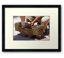 Open Toed Sandal Shine Framed Print