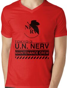 TOKYO-3 NERV  Mens V-Neck T-Shirt