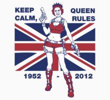 Cool Queen Elizabeth II Jubilee T-shirt by ethnographics