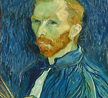 Vincent, Van Gogh, Self Portrait, 1889, Artist, Painter, Oils, Canvas by TOM HILL - Designer