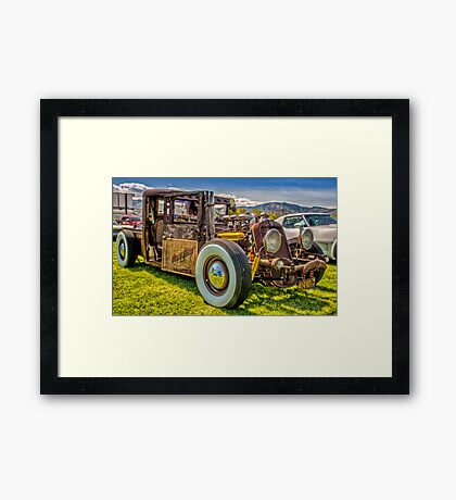 HillBilly Chevy Framed Print