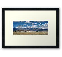 Hindu Kush Range, Bagram, Afghanistan Framed Print