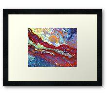 Dawn On Scarlet Mountain Framed Print