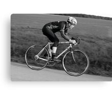 Cyclist Descending Canvas Print