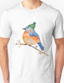 Watercolor Winter Bird T-Shirt
