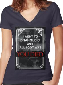 I Went To Drangleic... Women's Fitted V-Neck T-Shirt