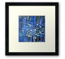 water lilies a la Monet Framed Print