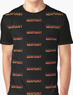 Germany - German Flag - Metallic Text Graphic T-Shirt