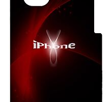 Fashion iphone design red by Amalia Iuliana Chitulescu