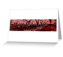 Red Grove Greeting Card