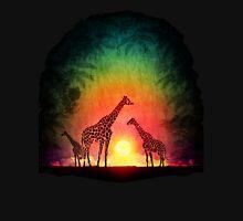Giraffes at sunset Unisex T-Shirt