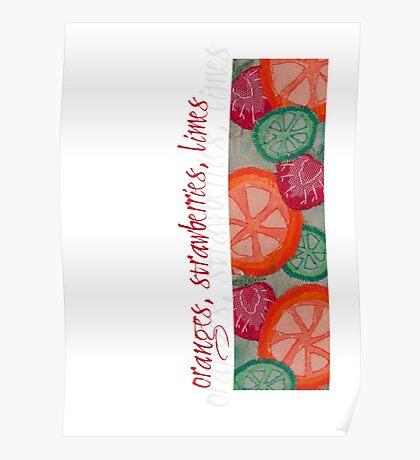 Sweet & Juicy Fruits Poster