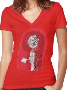 red rum Women's Fitted V-Neck T-Shirt