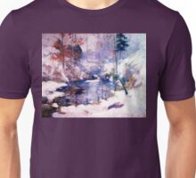 Snow in the forest Unisex T-Shirt
