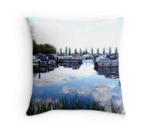 Sawley Marina, Nottinghamshire Throw Pillow