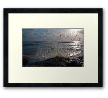 Waves Crashing on the Jetti  Framed Print