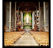 Inside Coventry Cathedral Photographic Print