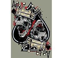 Cool Skull Play Card Photographic Print