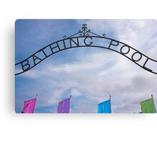 Bathing Pool Sign Penzance Canvas Print
