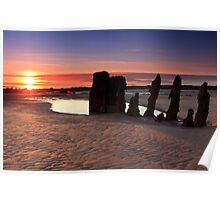 West coast Sunset Poster