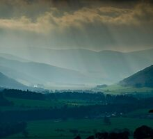 In Colour this time, View from Glentress towards Peebles, Scottish Borders by Iain MacLean