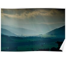 In Colour this time, View from Glentress towards Peebles, Scottish Borders Poster