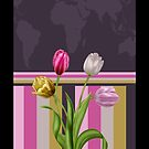 Tulip map iPhone case by Moonlake