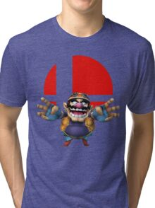wario t-shirt smash bros brawl  Tri-blend T-Shirt
