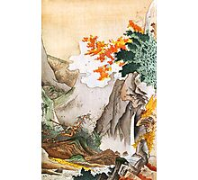 Serene Chinese Ravine Illustration Photographic Print