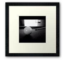 Cue ball Framed Print