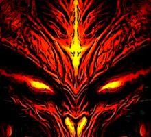 Evil Fire Dragon Design Sticker