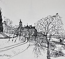 Park and Scott Monument by Peter Lusby Taylor