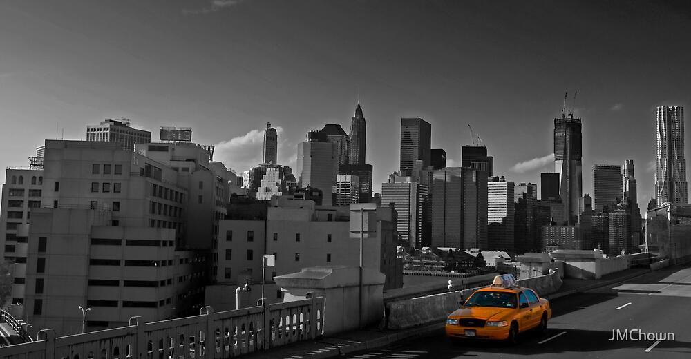 Crossing the Brooklyn Bridge, New York by JMChown