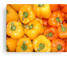 Yellow & Orange Peppers Canvas Print