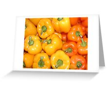Yellow & Orange Peppers Greeting Card