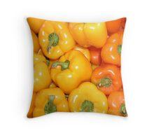 Yellow & Orange Peppers Throw Pillow