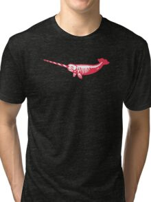 SkeleNarwhal - Scare up some fun Tri-blend T-Shirt