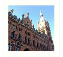 St. Pancras Station, London Art Print