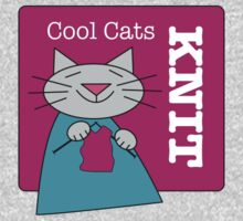 Cool Cats Knit Pink One Piece - Long Sleeve