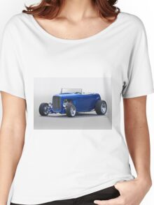 1932 Ford Roadster 'Thirty-Two in Blue' Women's Relaxed Fit T-Shirt