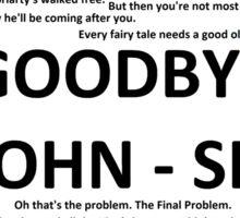 Sherlock Quotes Sticker
