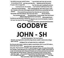 Sherlock Quotes Photographic Print