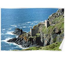 Botallack Crown Engine Houses Cornwall Poster