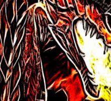 Toothless Fire Breathing Night Fury Fractal Dragon Design Sticker