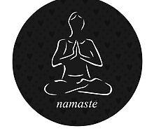 Yoga Namaste Calmness (White) by thedronestar